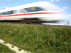 High Speed train blurred