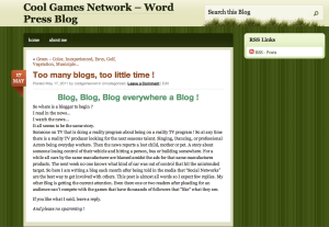 Still a screen shot of the May 17 Blog