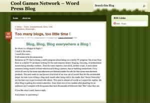 Still a screen shot of the May 17 Blog