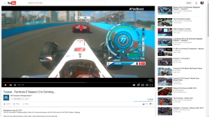 YouTube Screen capture Formula E