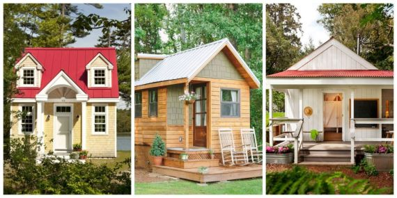 three tiny houses